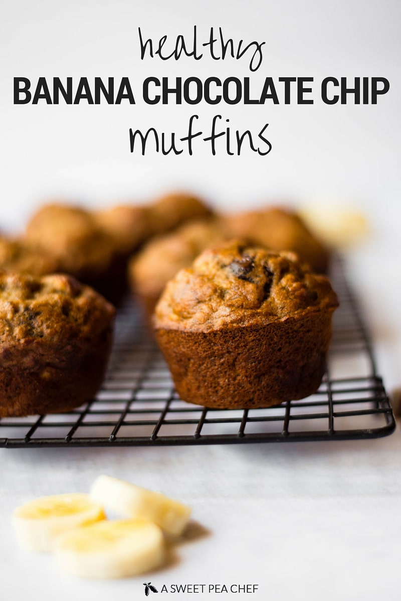 Healthy Banana Chocolate Chip Muffins A Sweet Pea Chef