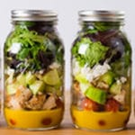 Make-Ahead Mason Jar Salads Square Recipe Preview Image