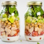 Chicken Cobb Mason Jar Salad Square Recipe Preview Image