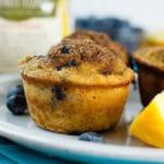 Orange-Scented Blueberry Muffins Square Recipe Preview Image