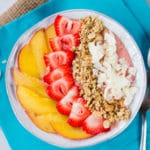 Strawberry & Peach Smoothie Bowl Square Recipe Preview Image