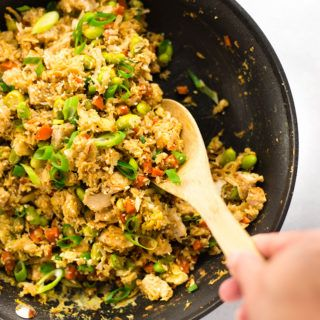 25 Minute Chicken Cauliflower Fried Rice