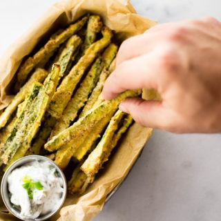 Healthy Baked Zucchini Fries - Low Carb and GF!