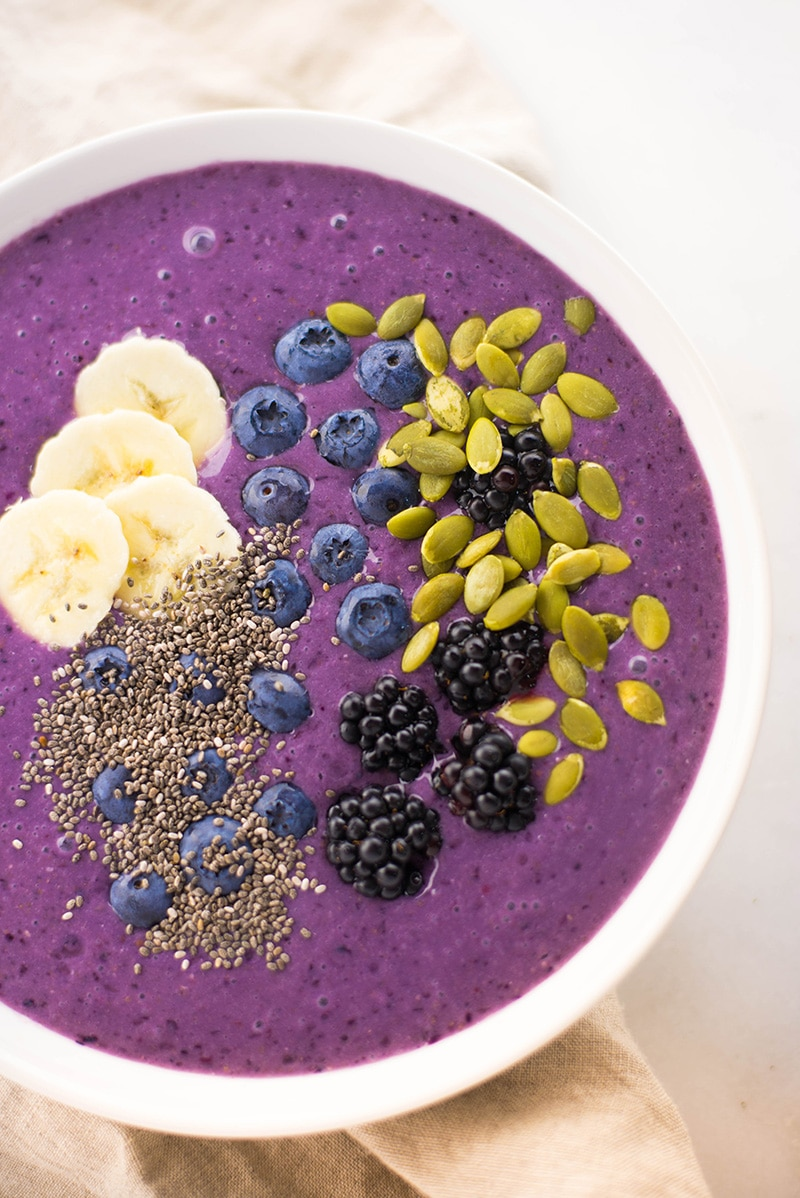 Banana Blueberry Smoothie bowl • A Sweet Pea Chef