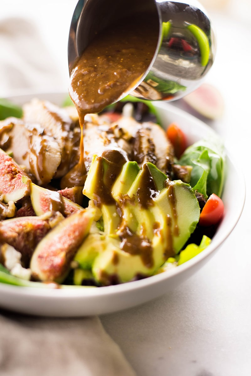 End Of Summer Salad With Fig Balsamic Vinaigrette   The perfect use of figs for the end of summer.   A Sweet Pea Chef