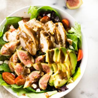 End Of Summer Salad With Fig Balsamic Vinaigrette | The perfect use of figs for the end of summer. | A Sweet Pea Chef