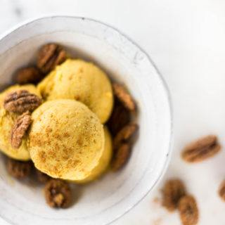 15-Minute EASY Pumpkin Ice Cream | No-Churn, Vegan, GF, Dairy-Free