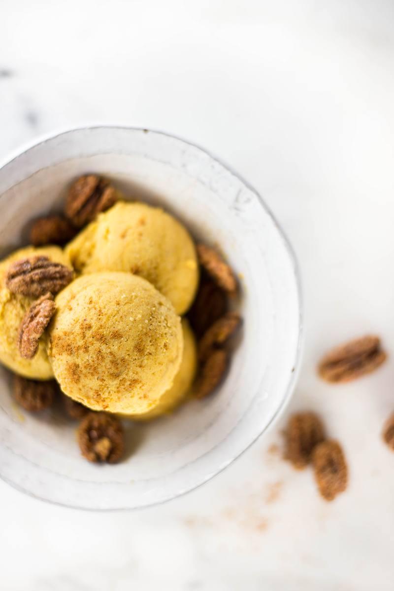 15-Minute EASY Pumpkin Ice Cream | No-Churn, Vegan, GF, Dairy-Free
