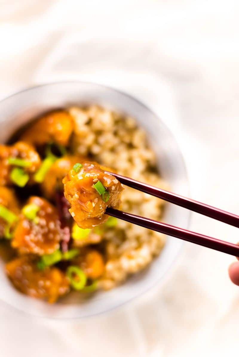 General Tso's Chicken | Healthy, gluten-free, and refined flour free General Tso's Chicken | A Sweet Pea Chef