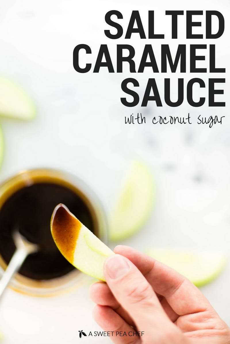 How To Make Salted Caramel Sauce Using Coconut Sugar | Clean + delicious caramel without any refined sugar!?!? Yup!! | A Sweet Pea Chef