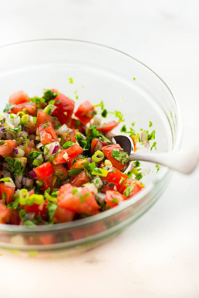 Pico De Gallo | My go-to EASY pico de gallo salsa that's the perfect salsa for almost anything! | A Sweet Pea Chef