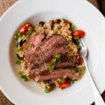Brown Rice Pilaf With Flank Steak - Square Recipe Preview Image
