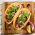 Green Chile Pork Tacos - Square Recipe Preview Image
