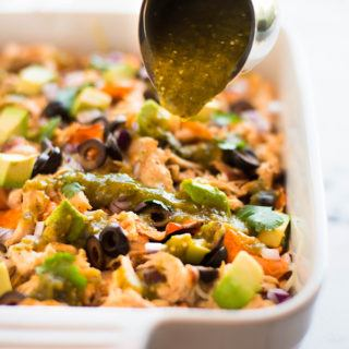 Sweet Potato Nachos | This delicious, healthy, and paleo sweet potato nachos recipe contains 47.9 grams of protein and 6.4 grams of fiber in just one serving!  Plus it's so delicious, you won't even believe it! | A Sweet Pea Chef