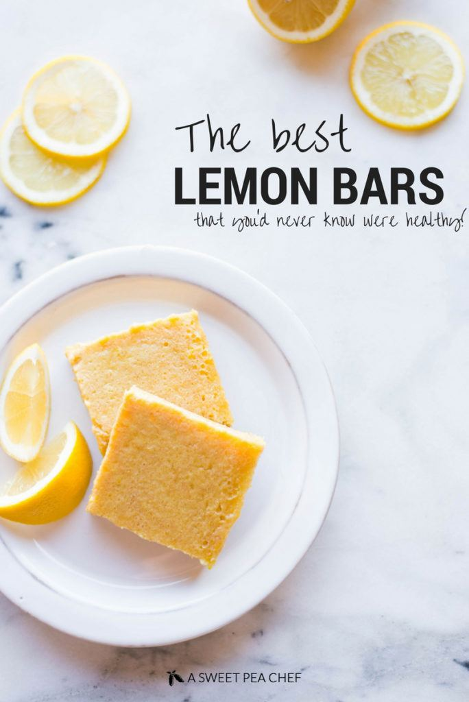 Best Lemon Bars   These are seriously the best lemon bars you'll ever make — they're healthy lemon bars that are refined sugar free and contain no refined flour! The perfect sweet treat!   A Sweet Pea Chef #ad
