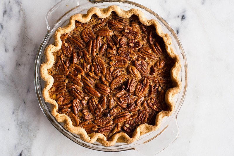 Healthy Pecan Pie | Clean, easy, and super delicious - this pecan pie is free of refined flours and sugars! | A Sweet Pea Chef