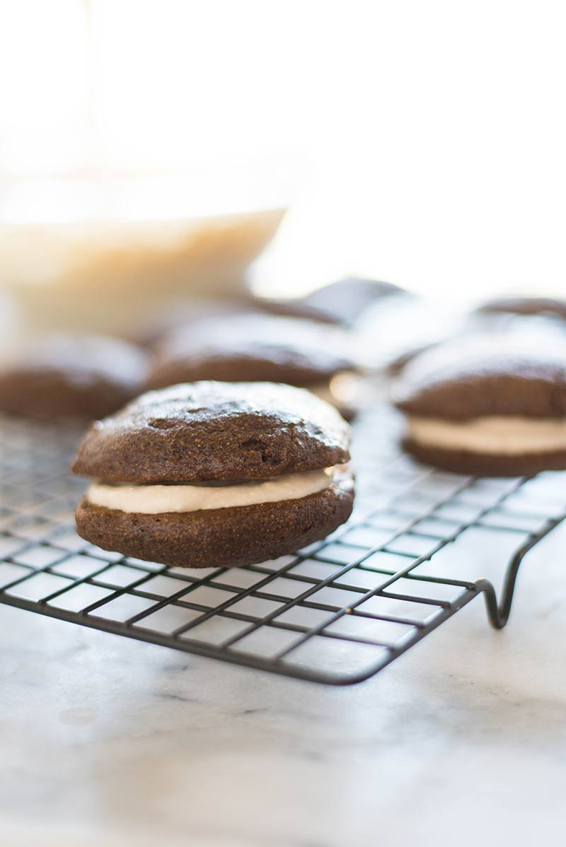 Dairy-Free Gingerbread Whoopie Pies | The perfect holiday treat for everyone, including dairy-free peeps! | A Sweet Pea Chef #ad