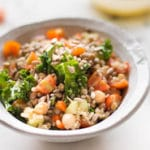 Quinoa Lentil Salad with Lemon Vinaigrette - Square Recipe Preview Image