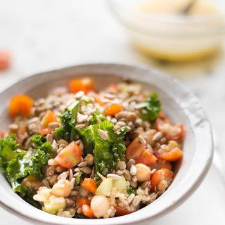 Quinoa and Lentil Salad with Lemon Vinaigrette | Packed full of protein and fiber, this is like detox in a bowl! | A Sweet Pea Chef