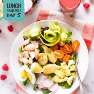 Springtime Cobb Salad with Raspberry Vinaigrette | Day 5 of our free Spring Into Health Lunch Challenge is here! | A Sweet Pea Chef