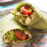 Chicken & Hummus Greek Wrap - Square Recipe Preview Image