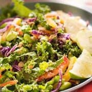 Colorful Chopped Thai Salad With Peanut Dressing