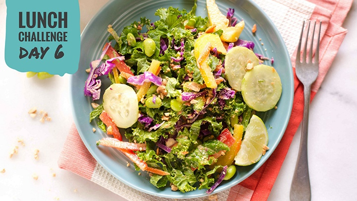 Chopped Thai Salad with Peanut Dressing | Day 6 of our free Spring Into Health Lunch Challenge is here! | A Sweet Pea Chef