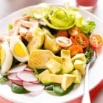 Springtime Cobb Salad with Raspberry Vinaigrette - Square Recipe Preview Image