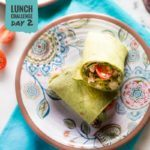 Chicken & Hummus Greek Wrap | Day 2 of our free Spring Into Health Lunch Challenge is here! | A Sweet Pea Chef