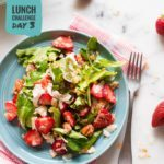Strawberry Fields Salad with Chia Seed Vinaigrette | Day 3 of our free Spring Into Health Lunch Challenge is here! | A Sweet Pea Chef