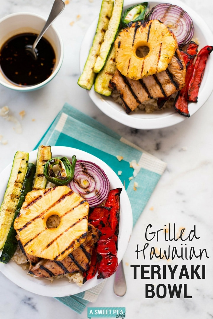 Grilled Hawaiian Turkey Teriyaki Bowl | So many delicious flavors and a great start to the grilling season | A Sweet Pea Chef #ad #700Reasons