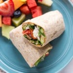Spinach, Egg White & Zucchini Lunch Wraps - Square Recipe Preview Image