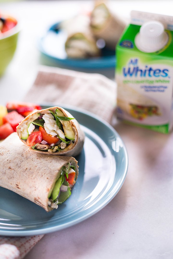 Spinach, Egg White & Zucchini Wraps | An easy, high protein lunch that's ready in 15 minutes! | A Sweet Pea Chef #ad