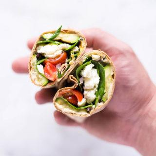 Spinach, Egg White & Zucchini Lunch Wraps