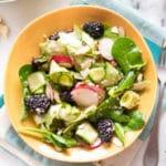 Spring Greens Salad | With Honey Lemon Vinaigrette