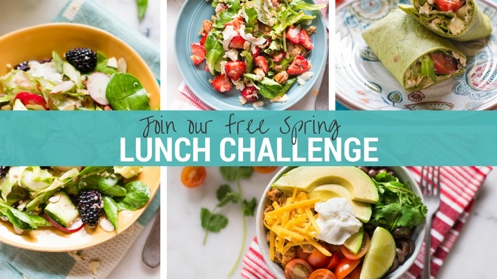 Spring Into Health Lunch Challenge | Join our free 7 day lunch challenge! | A Sweet Pea Chef