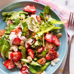 Strawberry Salad with Chia Seed Vinaigrette