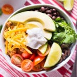 Turkey Taco Lunch Bowl - Square Recipe Preview Image
