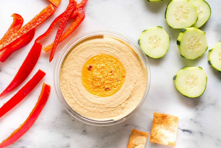 Why Hummus is my Fave Unofficial Meal | Love me a quick pre-dinner meal of hummus and veggies. | A Sweet Pea Chef #ad