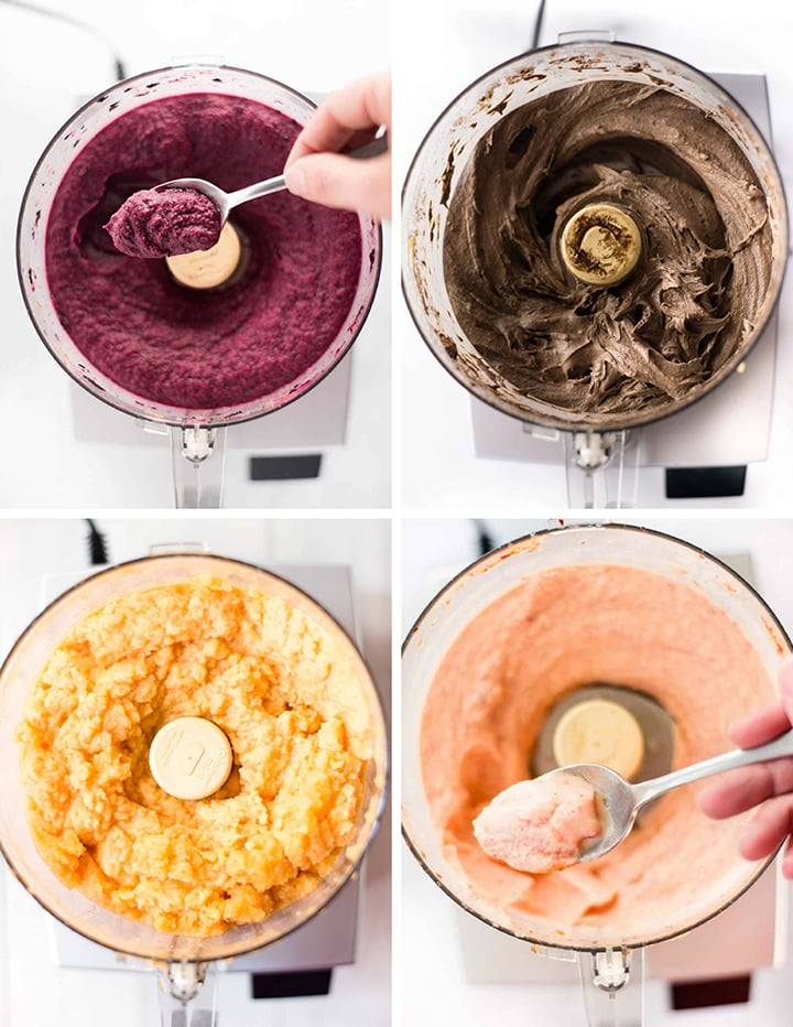 4 Healthy & Easy Frozen Desserts For Summer | Try these 4 great recipes using fresh fruit and a food processor to make sorbet, ice cream, and frozen yogurt at home! | A Sweet Pea Chef