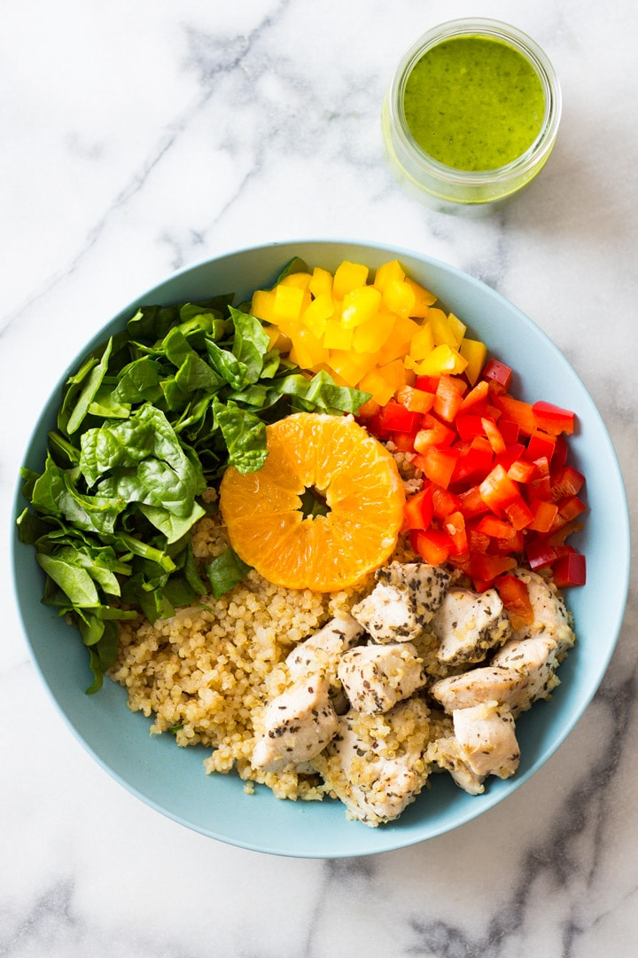 35 Easy Chicken Recipes - Instant Pot Quinoa Chicken Bowl