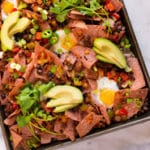Healthy Sheet Pan Breakfast Nachos - Square Recipe Preview Image