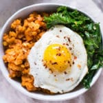 Sweet Potato and Lentil Hash with Garlic Sauteed Kale - Square Recipe Preview Image