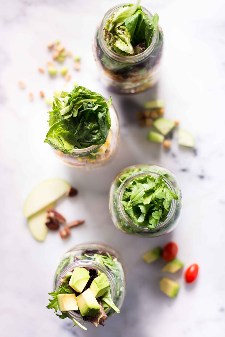 4 Easy Mason Jar Salad Recipes   These Easy Mason Jar Salad Recipes make eating healthy for lunch an absolute breeze   A Sweet Pea Chef