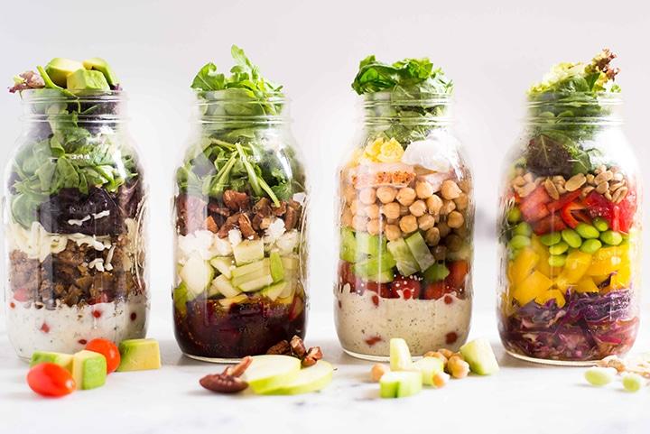 4 Easy Mason Jar Salad Recipes A Sweet Pea Chef
