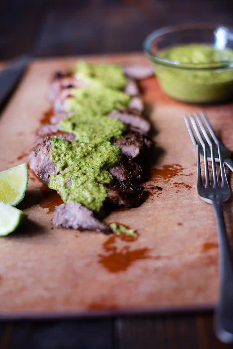 35 Easy Weeknight Dinners - Flank Steak with Chimichurri Sauce