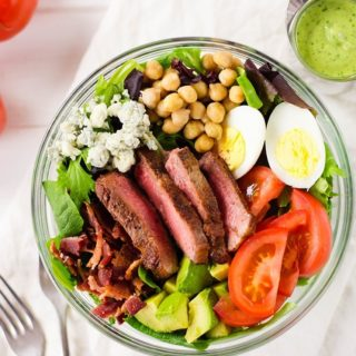 35 Easy Weeknight Dinners - Steak Cobb Salad with Cilantro Lime Dressing