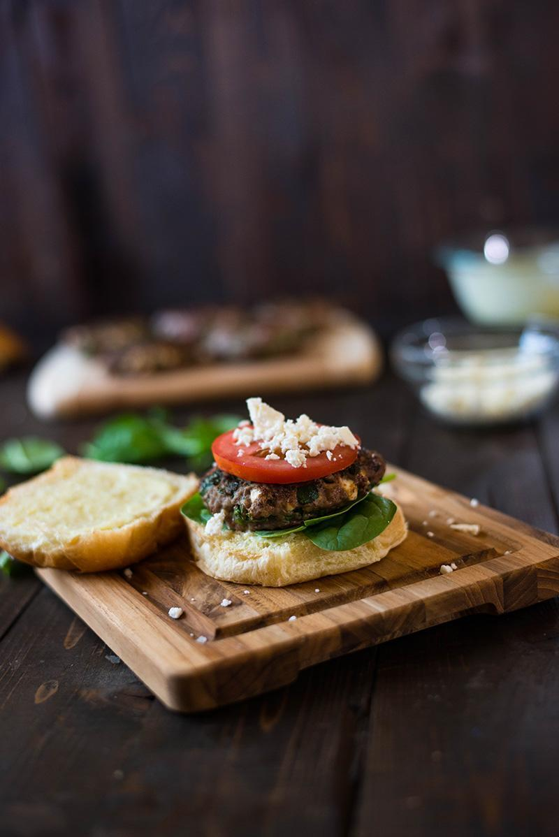 35 Easy Weeknight Dinners - Spinach and Feta Burgers