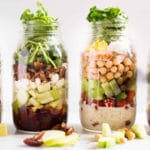 4 Easy Mason Jar Salad Recipes - Square Recipe Preview Image