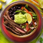 Steak Fajita Bowl With Cilantro Lime Rice - Square Recipe Preview Image